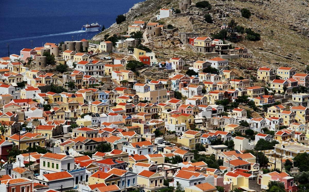 PANORAMA - SYMI - DODEKANES - GRIECHENLAND-GREECE-HELLAS