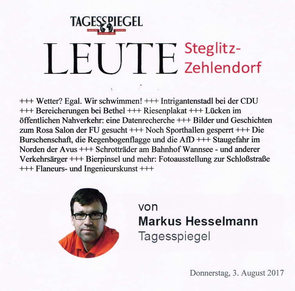 2017.08.03 Tagesspiegel Leute Steglitz Zehlendorf 1a
