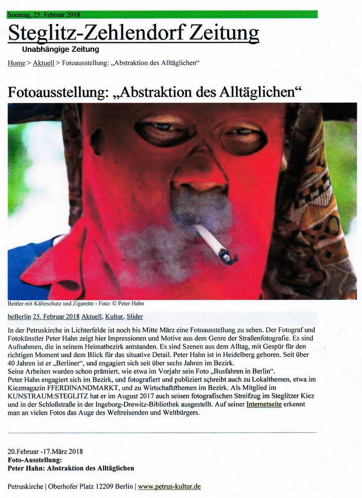 2018.02.25 Steglitz Zehlendorf Zeitung Artike Fotoausstellung Petruskirche 1 konv