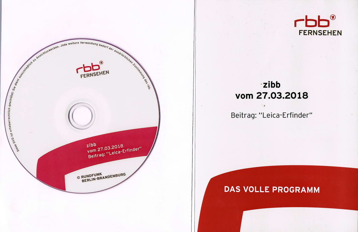 2018.03.27 Berlin rbb Beitrag in zibb  zu Barnack Leica konv