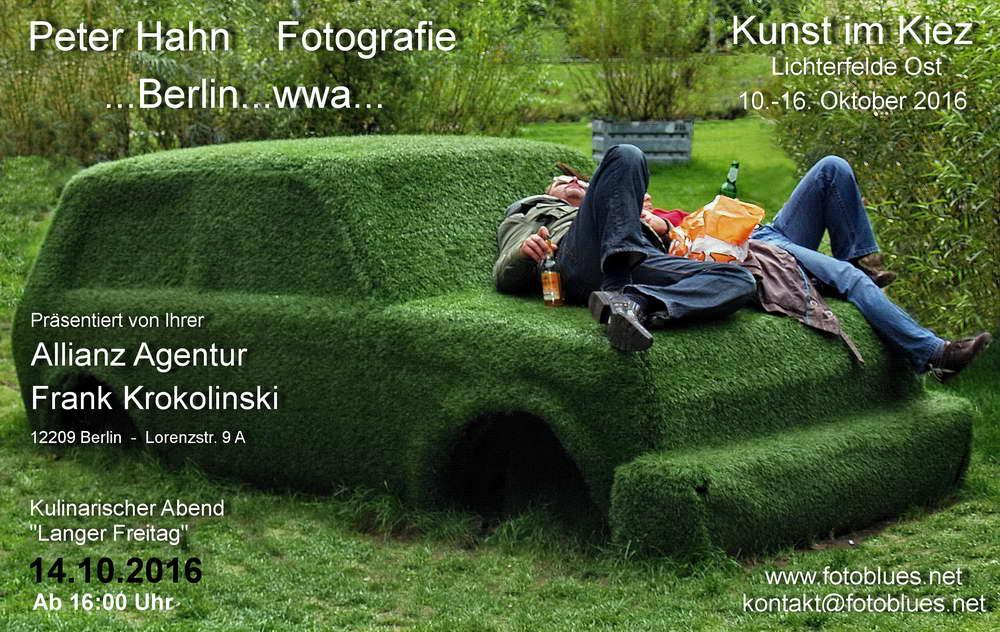 Berlin Treptow Trabiliegen Werbung Kunst im Kiez1