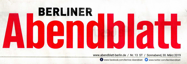 Berliner Abendblatt Zeitungsnamen.30.03.2019 konv