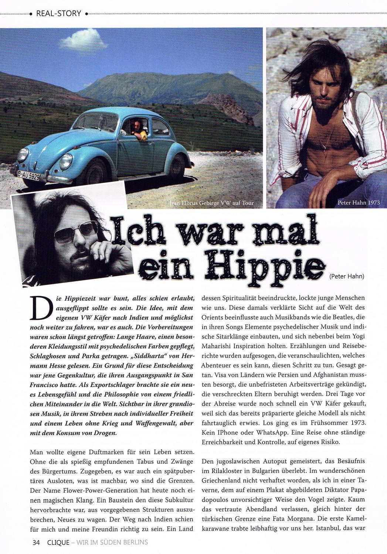 Clique Magazin 2 2019 Artikel Ich war mal ein Hippie 1 konv