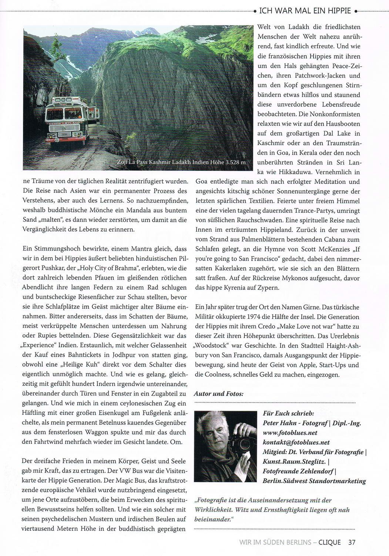Clique Magazin 2 2019 Artikel Ich war mal ein Hippie 4 konv