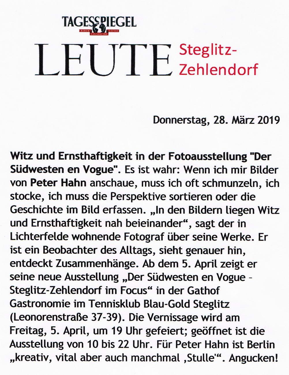 Der Tagesspiegel 23.08.2019 Fotoausstellung 2019 Witz und Ernsthaftigkeit in der Fotoausstellung 03 konv