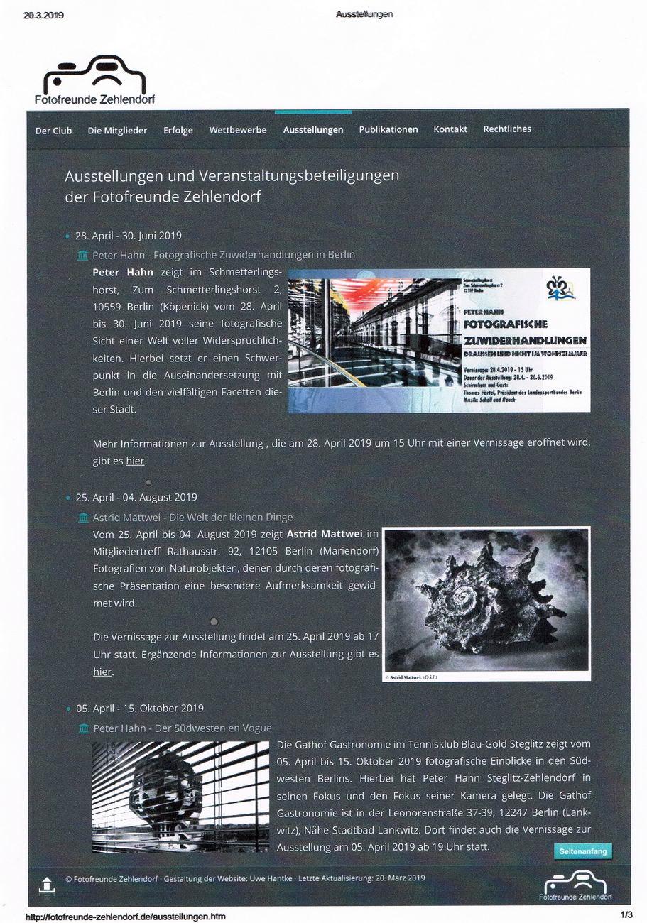 Fotofreunde Zehlendorf Gathof Ausstellung 01 konv