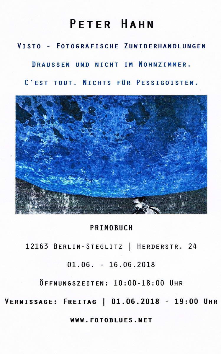 Fotografische Zuwiderhandlungen PRIMOBUCH Ausstellung Juni 2018 konv