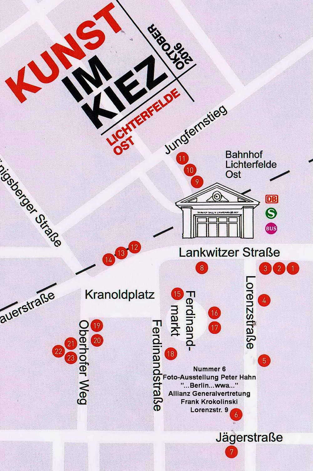 Kunst im Kiez Plakat 3   Plan