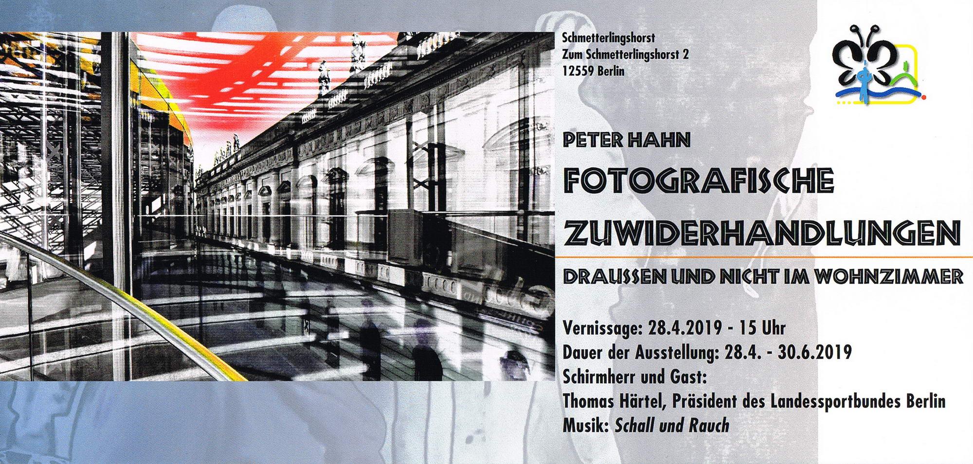 Schmetterlingshorst 2019 Flyer Fotoausstellung Peter Hahn 01 konv