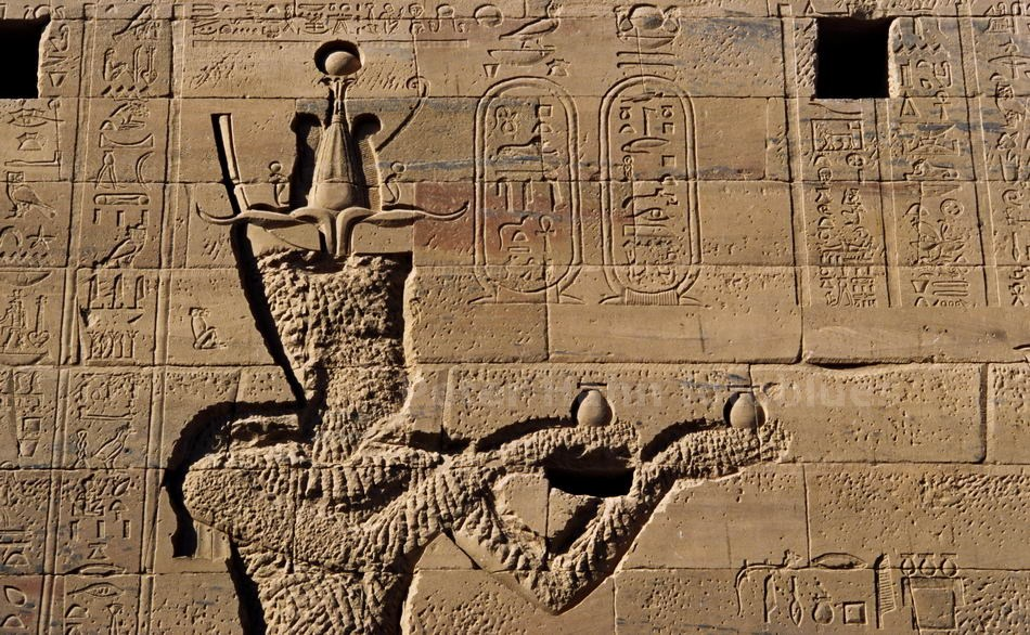 PHILAE - ASSUAN-EGYPT - RELIEF AM TEMPEL