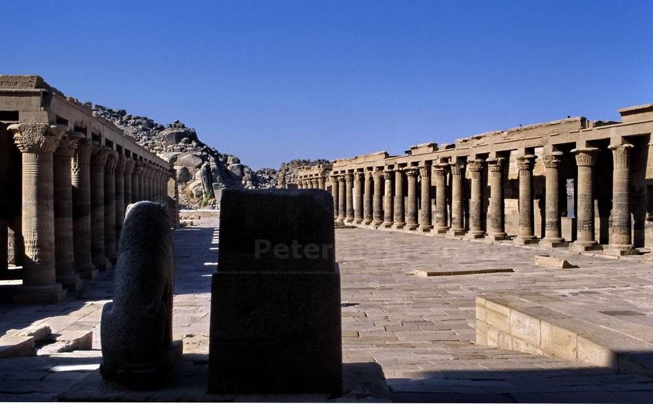 PHILAE - ASSUAN-EGYPT - TEMPELSÄULEN