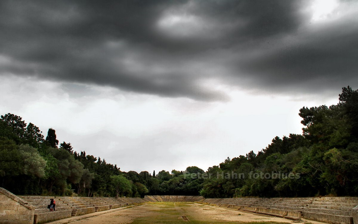 RHODOS - DODEKANES - GRIECHENLAND-GREECE-HELLAS - ANTIKES STADION