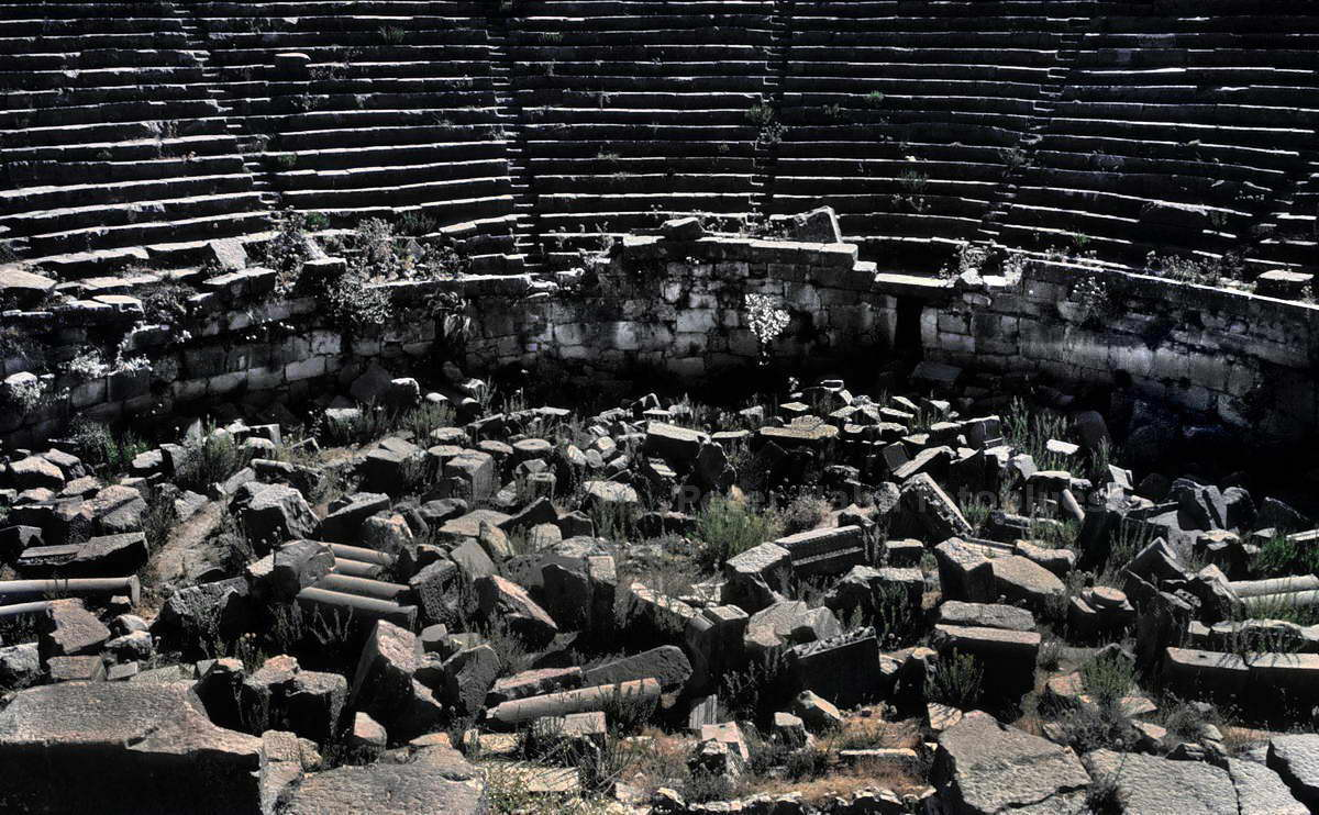 XANTHOS - MUGLA - TÜRKEI-TURKEY - ANTIKES THEATER