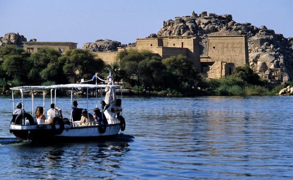 PHILAE - ASSUAN-EGYPT - ÄGYPTISCHE TEMELANLAGE