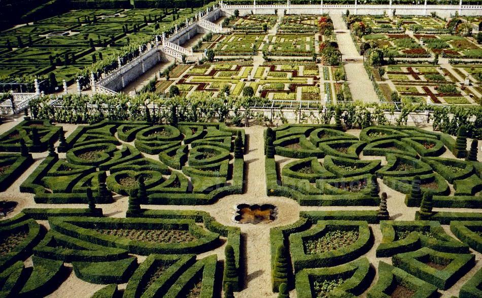 VILLANDRY - LOIRE-FRANCE - RENAISSANCE GARTEN