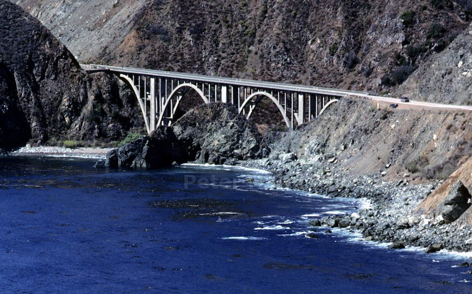BIG SUR - PACIFIC HIGHWAY-CALIFORNIA - USA - BIXBY BRIDGE - BETONKONSTRUKTION VON 1932