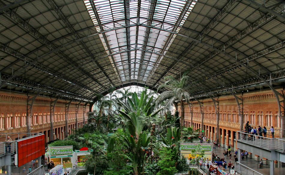 MADRID - SPANIEN-SPAIN- ALTER ATOCHA BAHNHOF