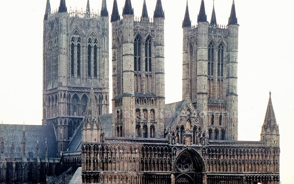 LINCOLN - ENGLAND-GREAT BRITAIN - NORMANNISCHE KATHEDRALE