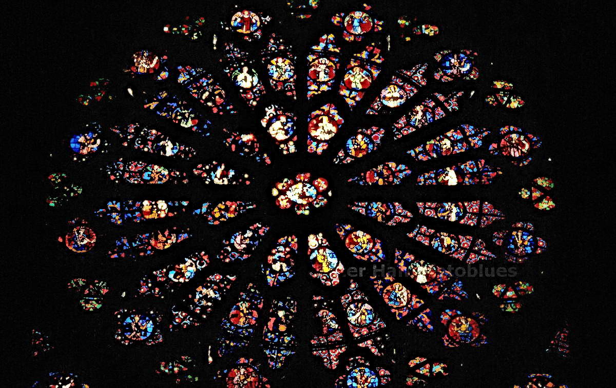 REIMS - FRANCE - KATHEDRALE NOTRE DAME - FENSTERROSETTE